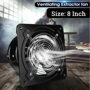 8 Inch Commercial Axial Metal Industrial Ventilation Extractor Plate Fan