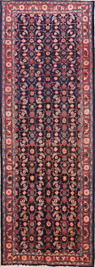 One Of A Kind All Over Floral Sarouk Persian Oriental Runner Rug 10 2 X 3 5