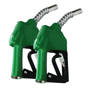 2x Portable Diesel Fluid Extractor Automatic Transfer Pump With Nozzle Green