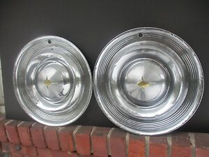 Lot Of 2 Factory 1957 Oldsmobile 14 Inch Hubcaps Wheel Covers