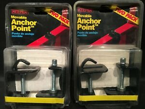 Qty 4 Keeper Universal Movable Tie Down Truck Bed Cargo Clamp On Anchors Points