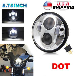 5 75 5 3 4 Motorcycle Projector Led Sealed Light Bulb Headlight For Harley Day