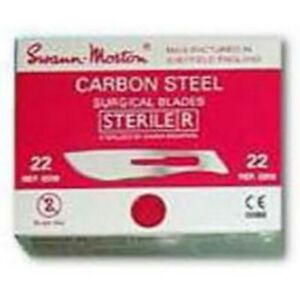 22 Scalpel Surgical Blades 100 Count Sterile Carbon Steel Individually Wrapped