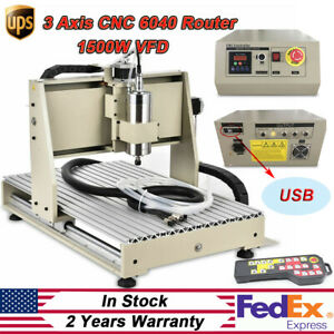 1500w Usb 6040 Cnc Router 3axis Metal Engraver Wood Drill Machine controllerr