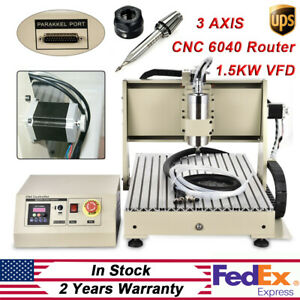 New Cnc 6040 3 Axis Router Engraver 1 5kw Engraving Drilling Milling Machine Kit