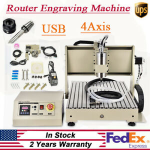Cnc 6040 4 Axis Cnc Router Engraver Usb 1500w Cutting Milling Drilling Machine
