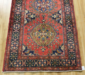 3 9 X11 Authentic Fine Semi Antique Persian Heriz Oriental Iranian Rug Runner