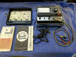 Transistor Fet Tester Sencore Tf17a Nice Working Serviced W Manuals