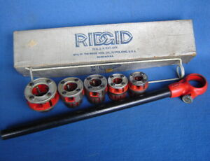 Ridgid 00 r Pipe Threader Ratchet Head handle 1 4 3 8 1 2 3 4