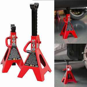 2 Ton Jack Stand Car High Lift Auto Vehicle Support Garage Tools Set 2 Pieces