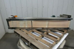 Stainless Steel Frame Plastic Slide Bed Conveyor 9 w X 72 l
