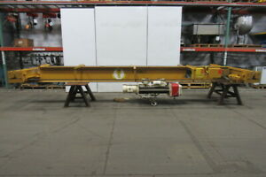 5 Ton 22 Bridge Crane W coffing Hoist Wire Rope 2 Speed Power Trolley 25 lift