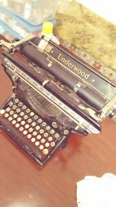 Typewriter Underwood Crcra 1917 Model 3 14id195226 Working Condition Orignal