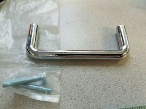 Simple Vintage Chrome Silver Drawer Pull Handle 3 On Center