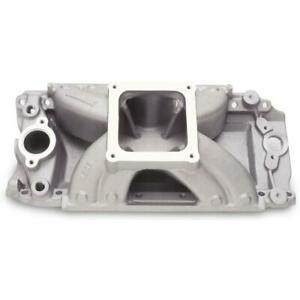 Edelbrock Intake Manifold 2927 Super Victor 9 800 Satin Aluminum For Chevy Bbc