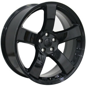 Black Wheel 20x8 For 2005 2014 Chrysler 300 Owh1730