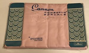Vintage Cannon Combspun Percale Pillowcases 2 Nos Pink Lilac Solid 42 X 38 5