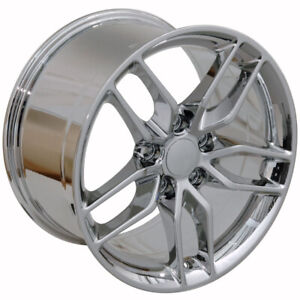 Chrome Wheel 18x10 5 Corvette Deep Dish Style For 1993 2002 Chevy Camaro