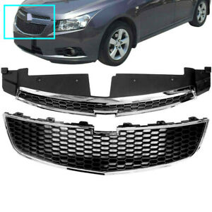 1pair 2x Grilles Upper Lower Grill Bumper For Cruze Chevy Cruze 2011 2012 13 14