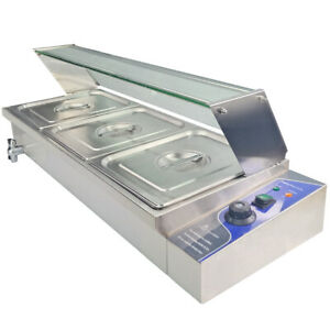 Bain Marie Stainless Steel Electric Food Warmer Container Temperature Control