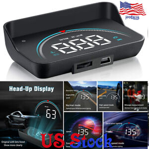 M8 Car Hud Head Up Display Obd2 Ii Overspeed Warning System Speed Voltage Alarm