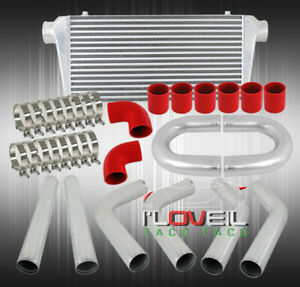Diy 3 Aluminum Pipe Piping Kit 3ply Silicone Hoses Couplper clamps intercooler