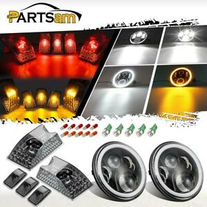 For Hummer H2 7 60w Osram Chip Led Headlight Eye Ring Cab Marker Green T10