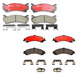 Front And Rear Brembo Ceramic Brake Pad Set Kit For Cadillac Chevrolet Gmc