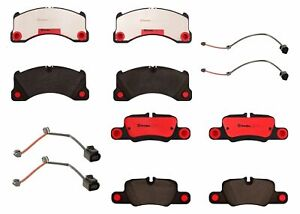 Front Rear Brembo Brake Pad Set Kit For Porsche Panamera Turbo 2010 Without Pccb