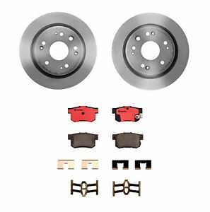 Brembo Rear Brake Kit Ceramic Pads Disc Rotors 5 Lugs For Honda Cr V 2002 2004