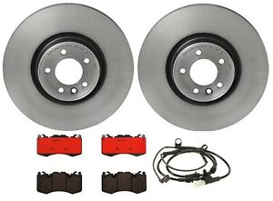 New Brembo Front Brake Kit Ceramic Pads Vented Disc Rotors For Range Rover Sport