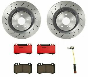 Brembo Rear Brake Kit Ceramic Pad Disc Rotors Drilled For Mercedes R230 Sl55 Amg