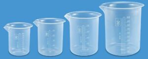Multiple Measuring Cup Graduated Plastic Beaker Set Of 2pcs For Each Capacity
