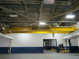 Shaw Box 2011 20 Ton 45 Top Running Double Girder Bridge Crane Remote Hoist