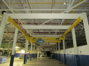 Coffing Shaw Box 10 Ton Double 5 Ton Hoist Free Standing Bridge Crane 20 X 70