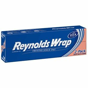 Reynolds Wrap 12 Aluminum Foil 250 Sq Ft 2 Ct