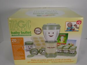 NEW MAGIC BULLET BABY BULLET THE COMPLETE BABY FOOD MAKING SYSTEM 20 PC BBR-2001