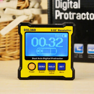 Digital Magnetic Angle Protractor Gauge Dual Axis 0 02 Resolution 50 60hz S4p7