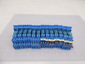Lot Of 13 Finder 40 52 95 85 1 Relays W Sockets T92217
