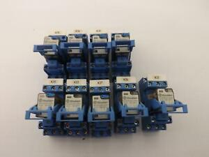Lot Of 9 Finder 55 33 9 024 5000 Relays W Sockets T36210