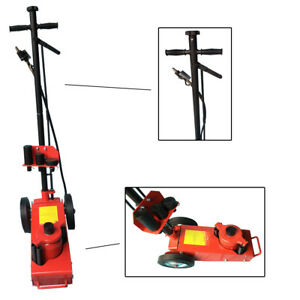 22 Ton Air Hydraulic Floor Jack Repair Tool Stand For Truck Trailer Bus Red