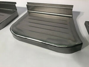 Ford F 100 Pickup Truck Steel Stepside Step Plates Set 1957 1960 Made In Usa