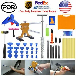 Us Pdr Tools Paintless Dent Repair Dent Puller Lifter Slide Hammer T Bar Removal