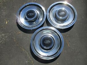Lot Of 3 1974 To 1976 Buick Riviera 15 Inch Hubcaps Wheel Covers Mint
