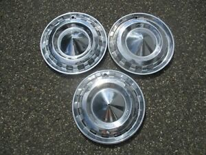 Factory 1956 Chevy Bel Air Nomad 15 Inch Hubcaps Wheel Covers
