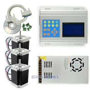 Cnc Standard 3axis Tb6560 Stepper Driver Full Kit Box motor psu keypad display