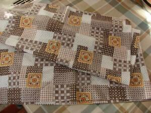 Pair Vintage Pillowcases 1970s 1980s Super Pattern 29 5in X 18 5in