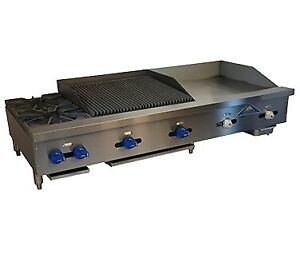 Comstock castle Fhp72 30t 1 5rb 72 Countertop Gas Griddle Charbroiler