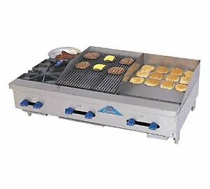 Comstock castle Fhp48 18t 1 5rb 48 Countertop Gas Griddle Charbroiler
