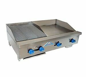 Comstock castle Fhp42 24t 1 5rb 42 Countertop Gas Griddle Charbroiler